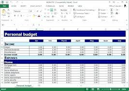 sample personal budget personal monthly budget worksheet excel home budget worksheet excel