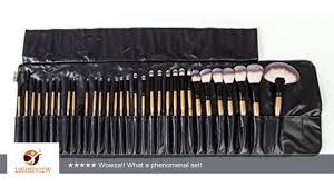 kabuki makeup brush set. 32 piece brush set | professional kabuki makeup cosmetics foundation brushes a