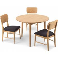 stockholm oak furniture circular dining table set with 4 chairs