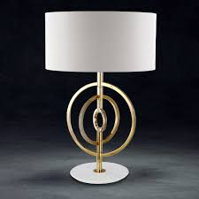 luxury 24 carat gold plated swarovski crystal table lamp