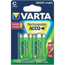<b>Аккумулятор Varta C</b>, 3000мАч, 1.2В, Ni-MH, 56714 (HR14/C)