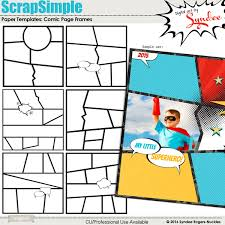 Paper Frames Templates Scrapsimple Paper Templates Comic Page Frames