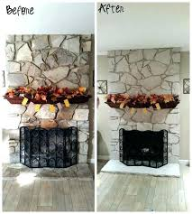 paint stone fireplace whitewash stone fireplace whitewash paint stone fireplace paint stone fireplace before and after