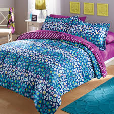 your zone seer ered multi color cheetah bedding comforter and sham set com