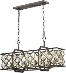 chandeliers elk lighting pembroke 6 light 31 inch chandelier in polished nickel elk 31098 6