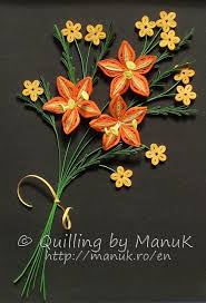 Paper Quilling Flower Bokeh Quilled Bouquet