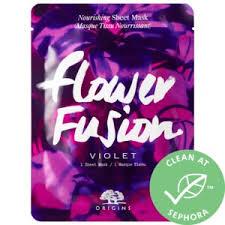 <b>Flower Fusion</b>™ <b>Violet</b> Nourishing Sheet Mask - <b>Origins</b> | Sephora