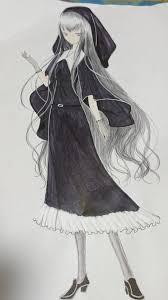 たたずむ美少女 ちゃお イラストコンテスト かわいい女の子の絵を