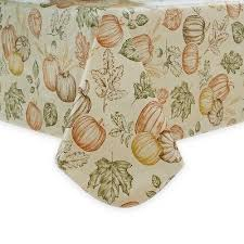 thanksgiving fall vinyl indoor outdoor tablecloth 70 rd new sketched harvest