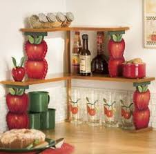 my red country apple themed kitchen