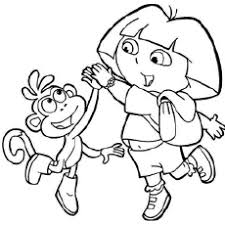 Dora looks beautiful as a fairy princess. Dora Coloring Pages Free Printables Momjunction