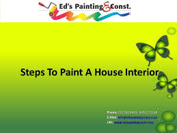 slideshow steps to paint a house interior