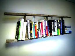 narrow ladder shelf wooden ladder bookcase bookcase vintage wooden ladder bookshelf small short narrow ladder shelf