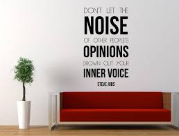 steve jobs inspirational e wall decal don t let the noise of other people s opinions drown out your inner 78 45cm fairy wall decals fairy wall