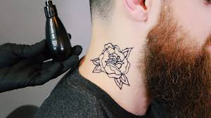 Rose Neck Piece Inkbox Freehand Tattoo Timelapse