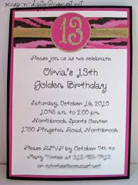 13 Birthday Invitation Templates Golden Birthday Invitation For 13 Year Old Girl Party Invitations