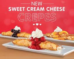 sweet cream cheese crepes