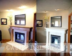 painted fireplace mantels modest ideas painted fireplace mantels creative design refinishing mantel