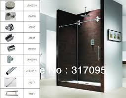 frameless sliding shower door hardware. Frameless Sliding Shower Door Hardware For Inspirations Shipping KM High Polished F