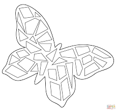 Small Picture Butterfly Mosaic coloring page Free Printable Coloring Pages