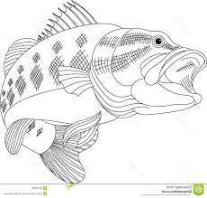 Small Picture Adult bass coloring pages Bass Fish Coloring Pages Bass Easy8