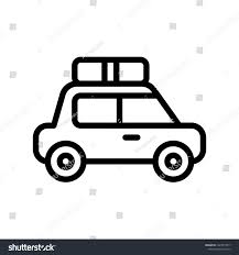 Car Outline Design Cute Police Car Outline Icon Editable Stock Vector Royalty
