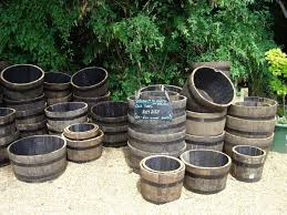 wooden garden barrels for half whiskey barrel planters ideas new decoration how to plant