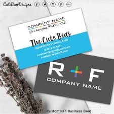Name Card Gorgeous Rodan And Fields Business Card R And F Cards RF Rodan Etsy
