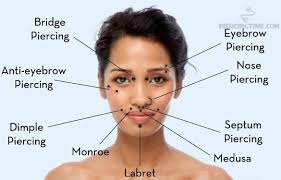 All Face Piercings Chart 14 Piercing Charts You Wish You Knew About Sooner