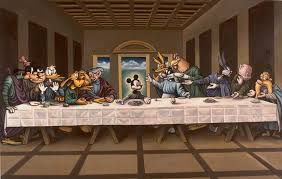 ron was inspired by famous artworks which made him want to recreate those artworks one of them was the remake of leonardo da vinci s last supper painting