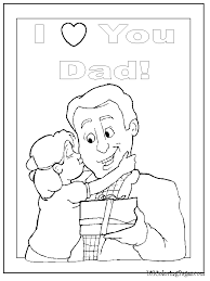 Small Picture I Love Dad Coloring Pages love you dad coloring pages 1 I Love