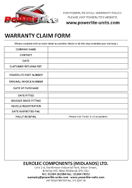 Claim Form In Word Template Warranty Claim Form Template 5