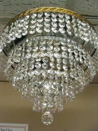 italian crystal chandelier 5 tier flush mount w beads for chandeliers antique
