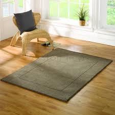 tuscany sienna plain bordered rug taupe brown 120 x 170 cm 4