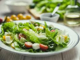 salad with cherry tomatoes and romaine lettuce