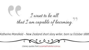 Katherine Mansfield New Zealand Short Story Writer Born