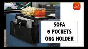 6 pockets sofa handrail arm rest organizer remote control holder aliexpress unboxing