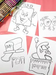 9 Passover Coloring Pages For Kids Printable Pdf Colouring Pages For Pesach Passover Jewish Activities For Preschool