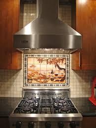 Tile Murals For Kitchen Kitchen Backsplash Tile Murals By Linda Paul Studio By Linda Paul