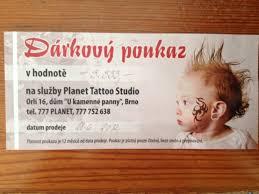Poukaz Na Tetování Do Planet Tattoo