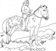 Coloriage Cheval Indien Ancenscp