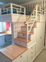 bunk bed with stairs wooden beds futon uk discover storage