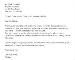 thank you letter after interview job interview thank you letter template business