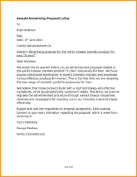 Advertising Proposal Letter Under Fontanacountryinn Com