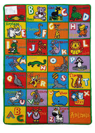 children s rug abc animals play mat 94cm x 133cm
