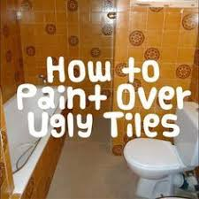 paint over bathroom tile. How To Paint Tiles! It Is A Super Easy And Very Cheap Way Of Updating Your Old Bathroom. Over Bathroom Tile