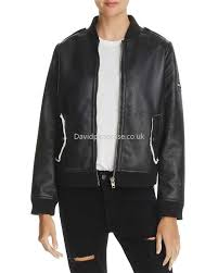 women s er chaser popular faux shearling er jacket in black cs2221