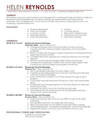 Restaurant Management Resumes Classy Restaurants Manager Resume Restaurant Manager Resumes Free Resume