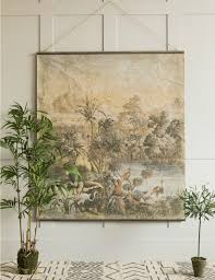 Wall Chart Jungle Extra Large Aged Jungle Print Wall Chart Home In 2019