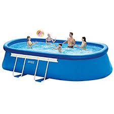 Amazoncom Intex 18ft X 10ft X 42in Oval Frame Pool Set with
